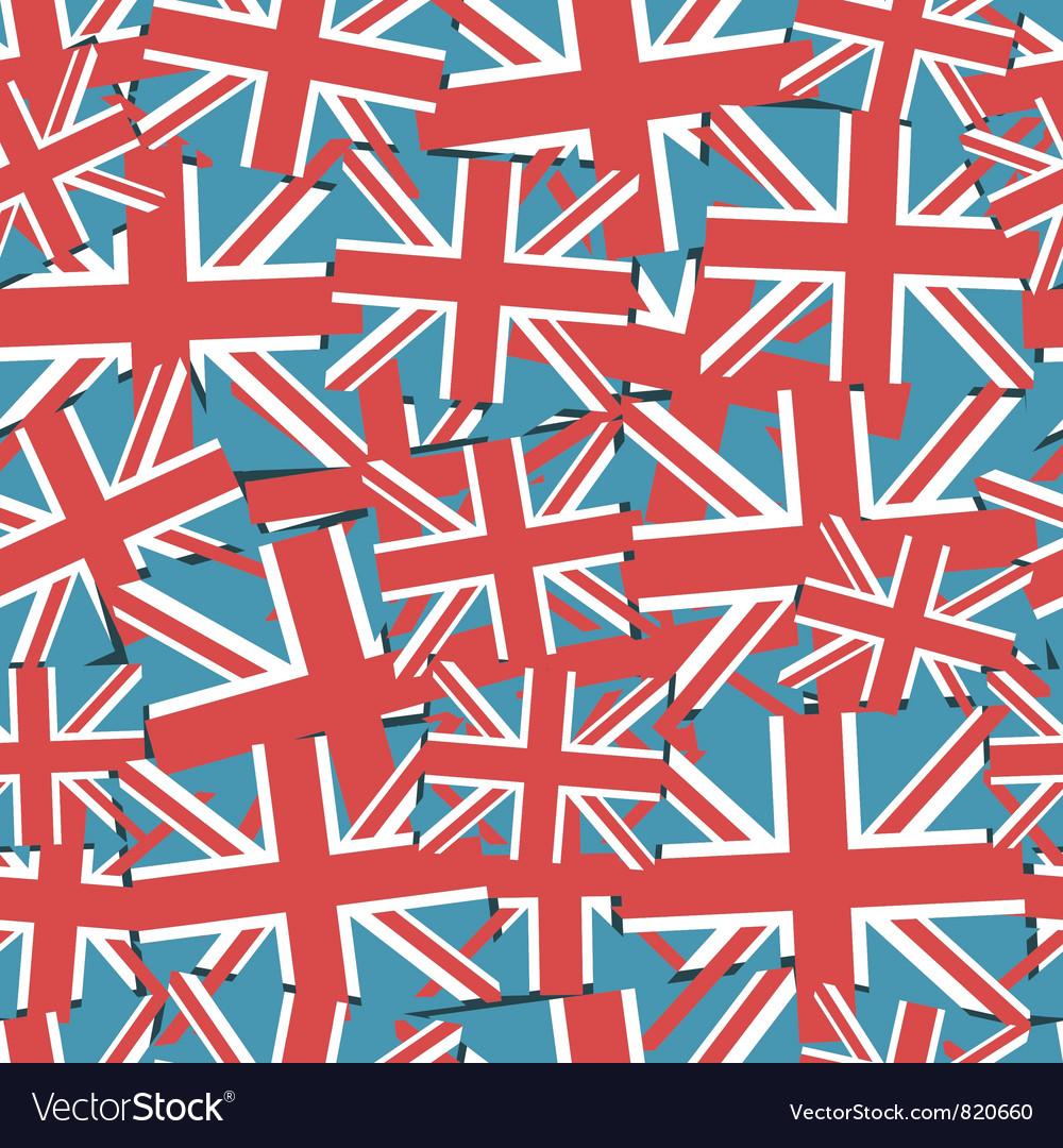 Uk flag pattern vector image