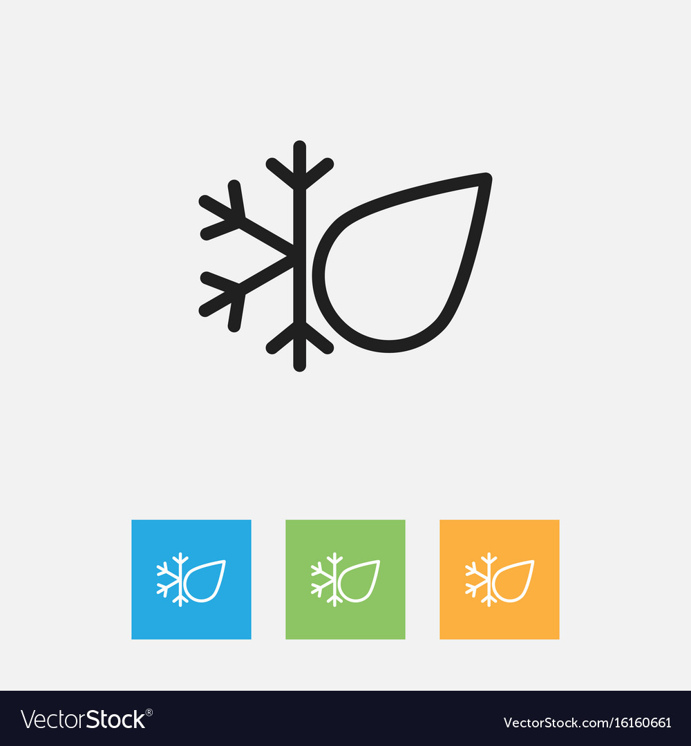 Of climate symbol on freeze vector image