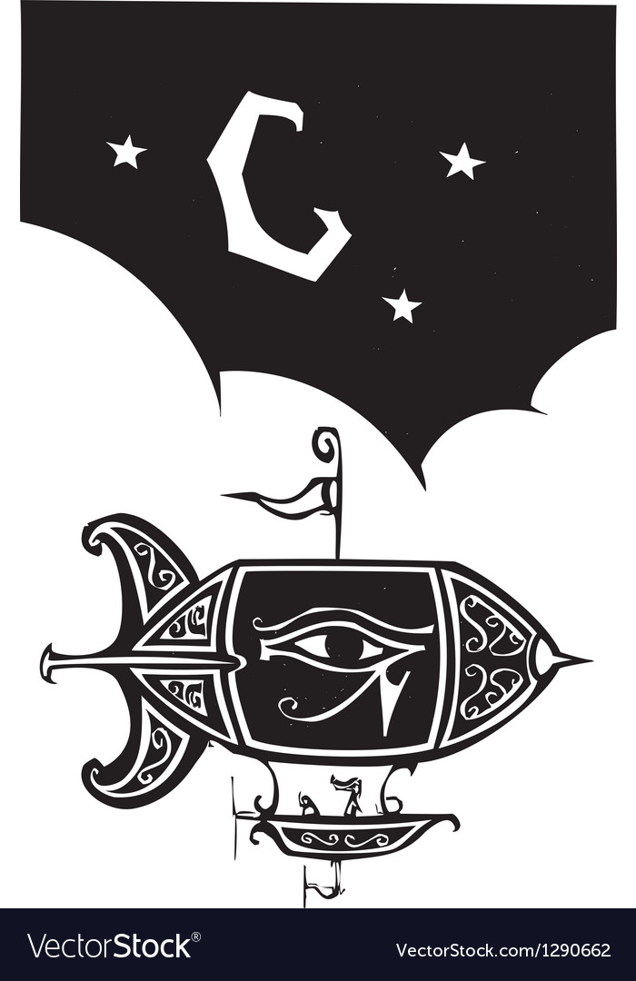 Egyptian Blimp vector image