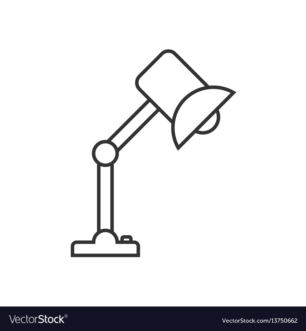 Table lamp linear icon vector image