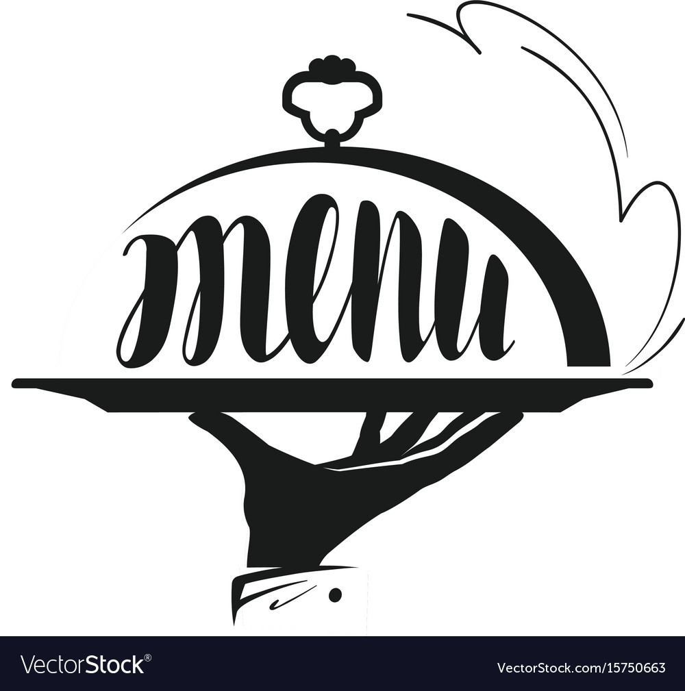 Food service catering logo icon for design menu vector image for Comedor vector