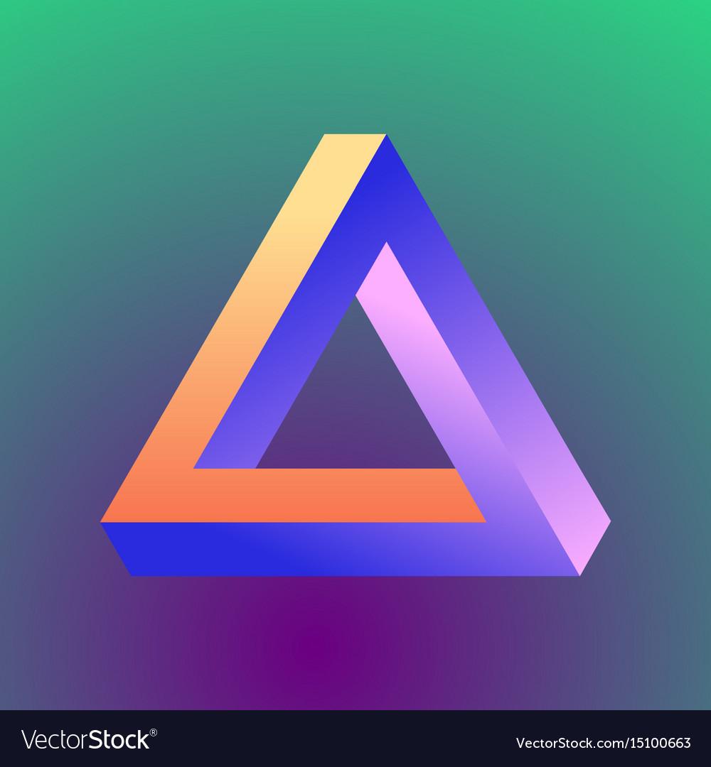 Mobius triangle figure vector image