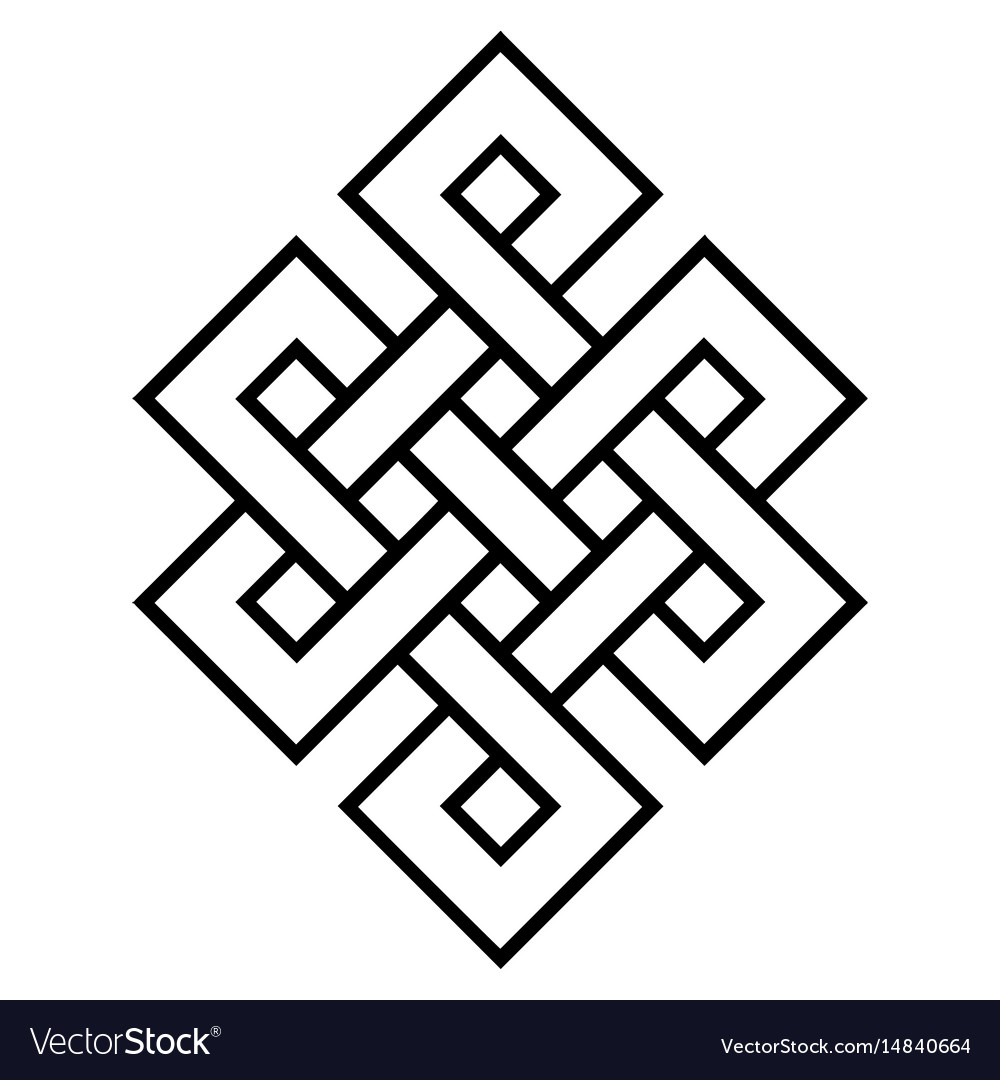 Cultural symbol of buddhism endless knot vector image cultural symbol of buddhism endless knot vector image biocorpaavc