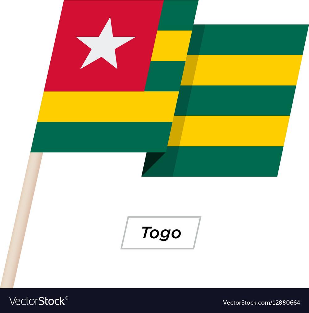 Togo Ribbon Waving Flag Isolated on White vector image