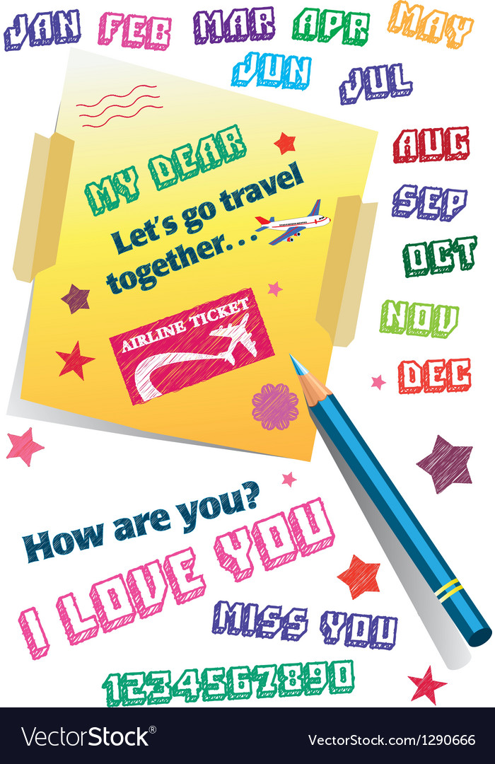 Travel memo vector image