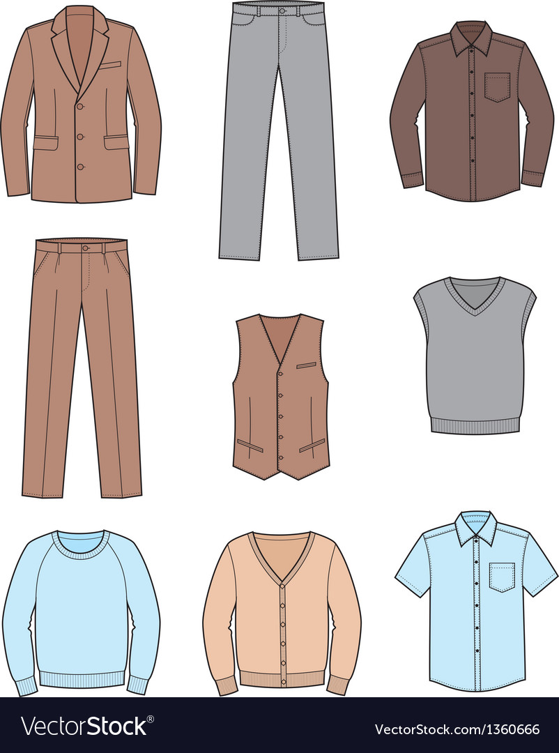 Business clothes set vector image