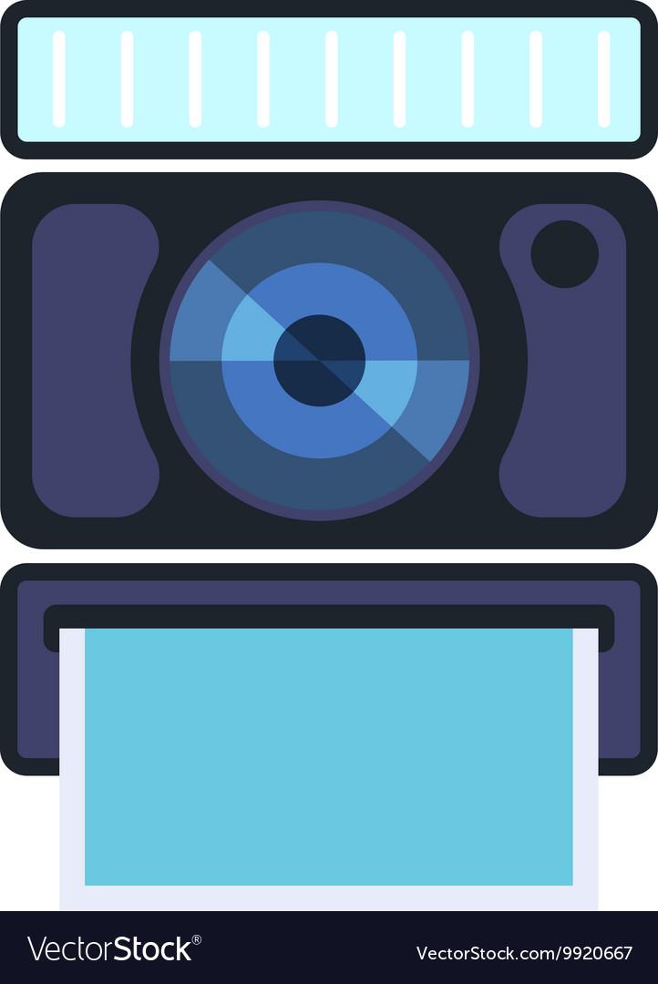 Digital photo camera isolated vector image