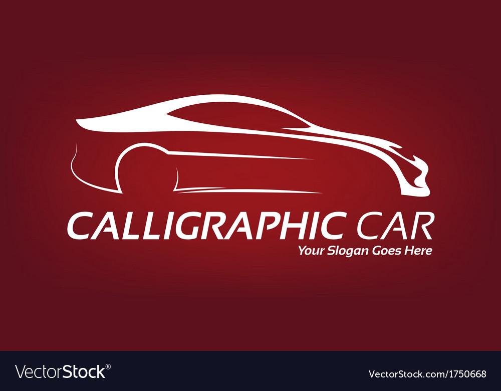 Calligraphic car logo vector image