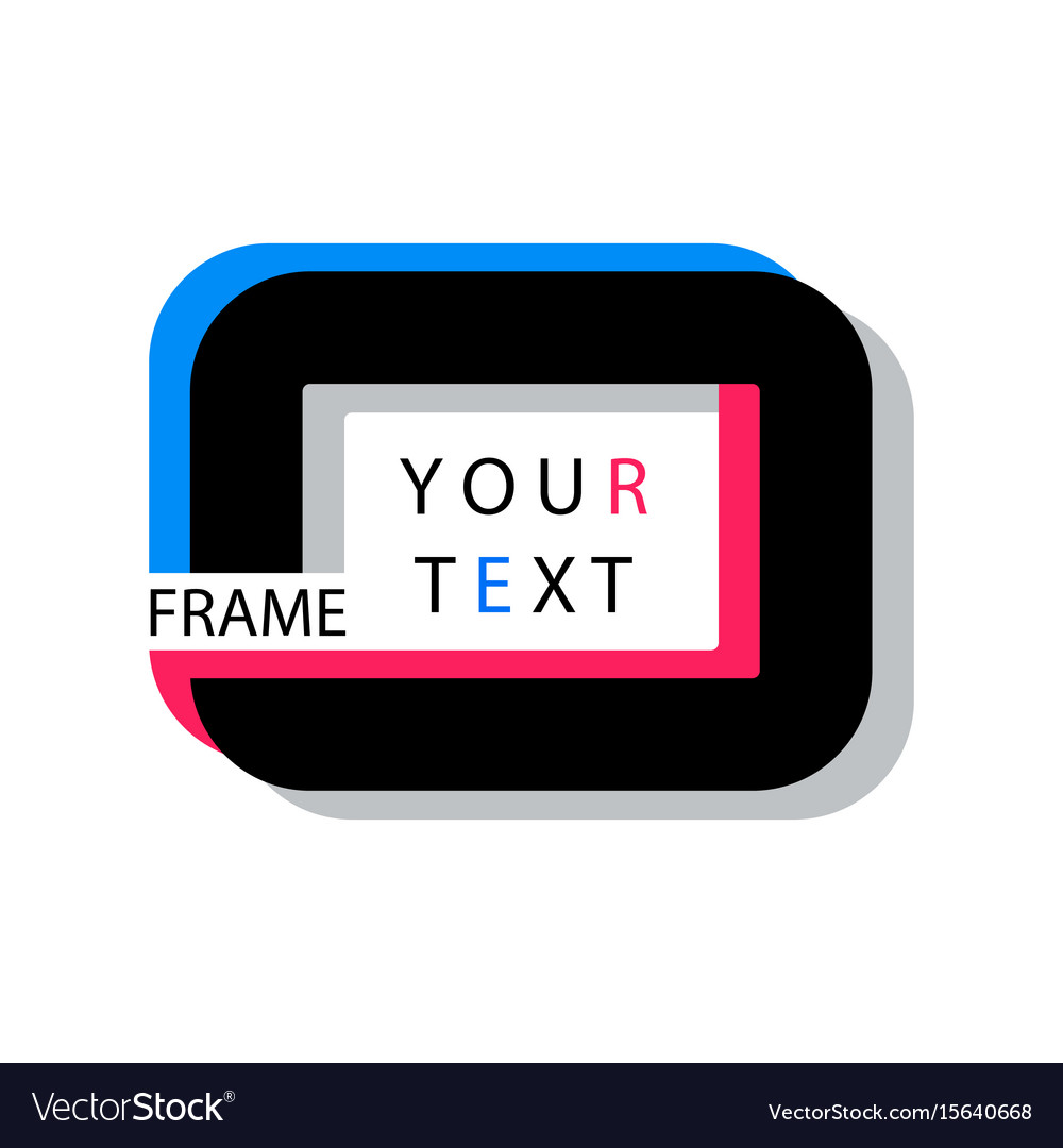 Digital quote frames box vector image
