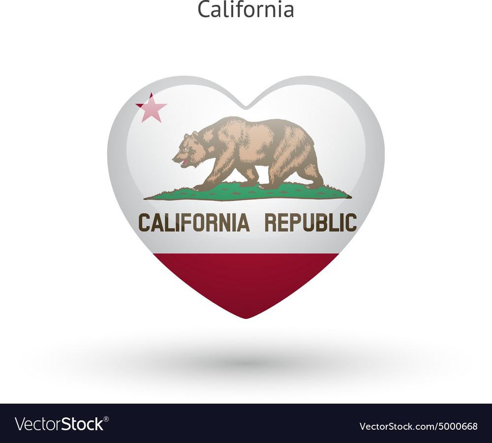 Love california state symbol heart flag icon vector image love california state symbol heart flag icon vector image buycottarizona