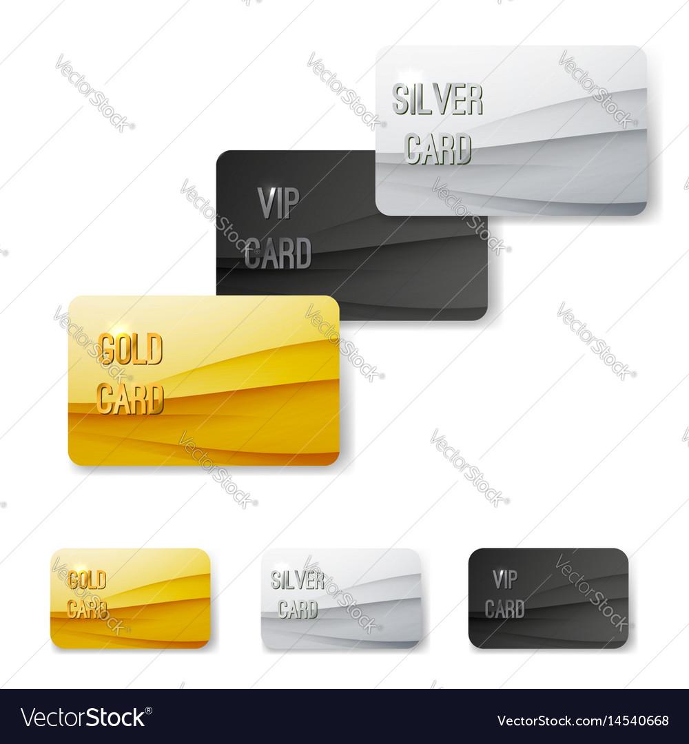 Premium customer member wave pattern card vector image