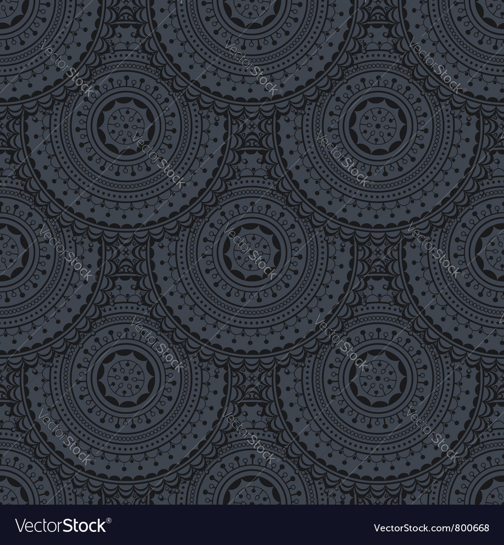 Seamless backgrond with circles vector image