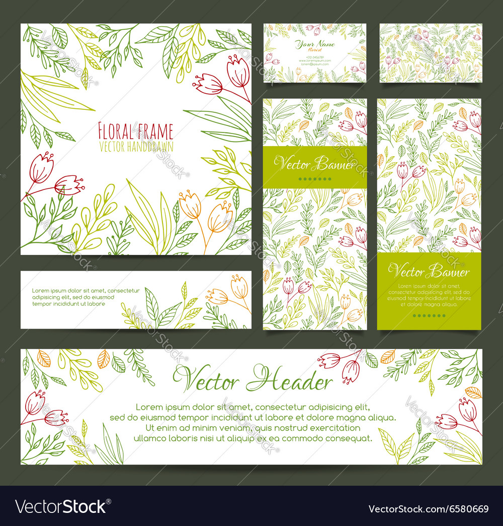 Set of banners business card frame invitations vector image set of banners business card frame invitations vector image magicingreecefo Gallery