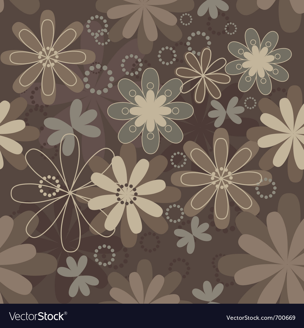 Vintage art flower vector image
