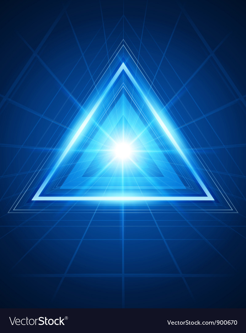 Abstract triangle tunnel background vector image