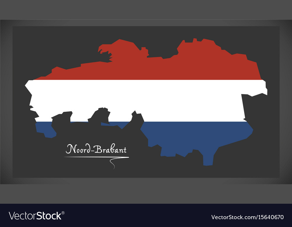 Noordbrabant netherlands map Royalty Free Vector Image