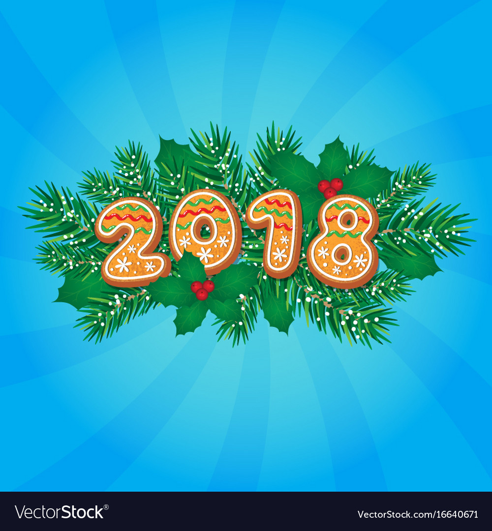 2018 christmas new year greeting card design vector image kristyandbryce Image collections