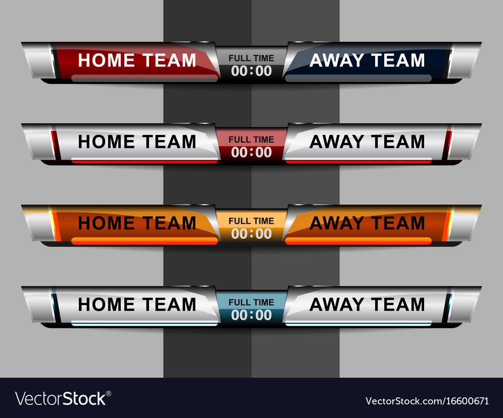 Scoreboard template football or soccer scoreboard for Scoreboard template for powerpoint