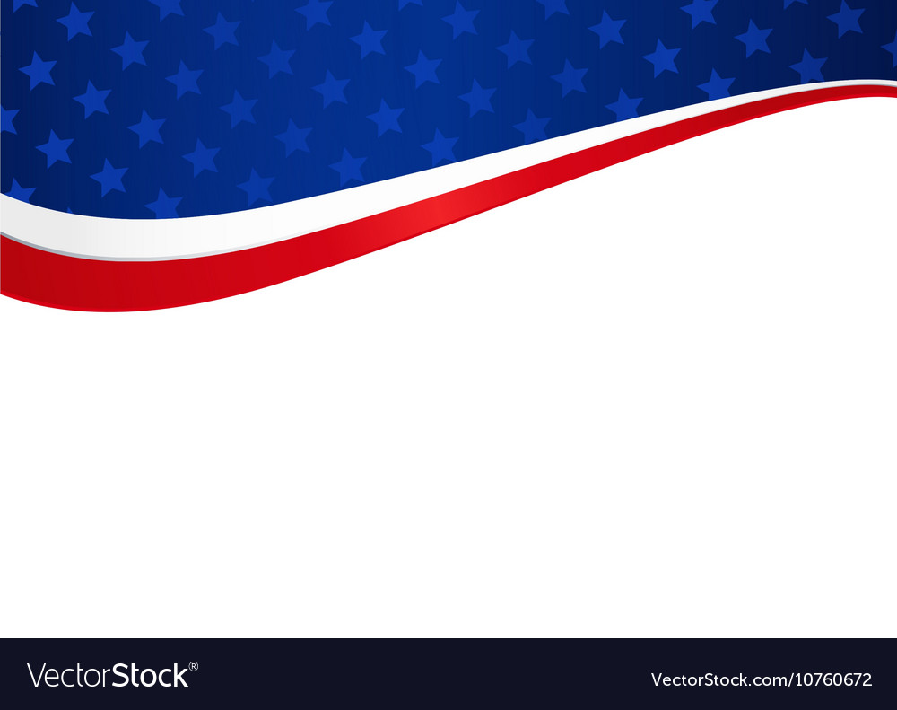 Patriotic american holiday abstract background vector image