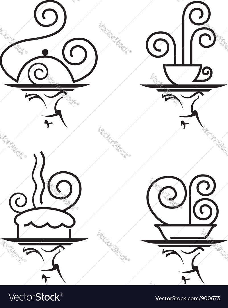 Restaurants icon set Vector Image