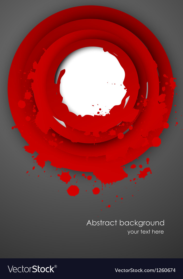 Abstract background with red grunge circles vector image