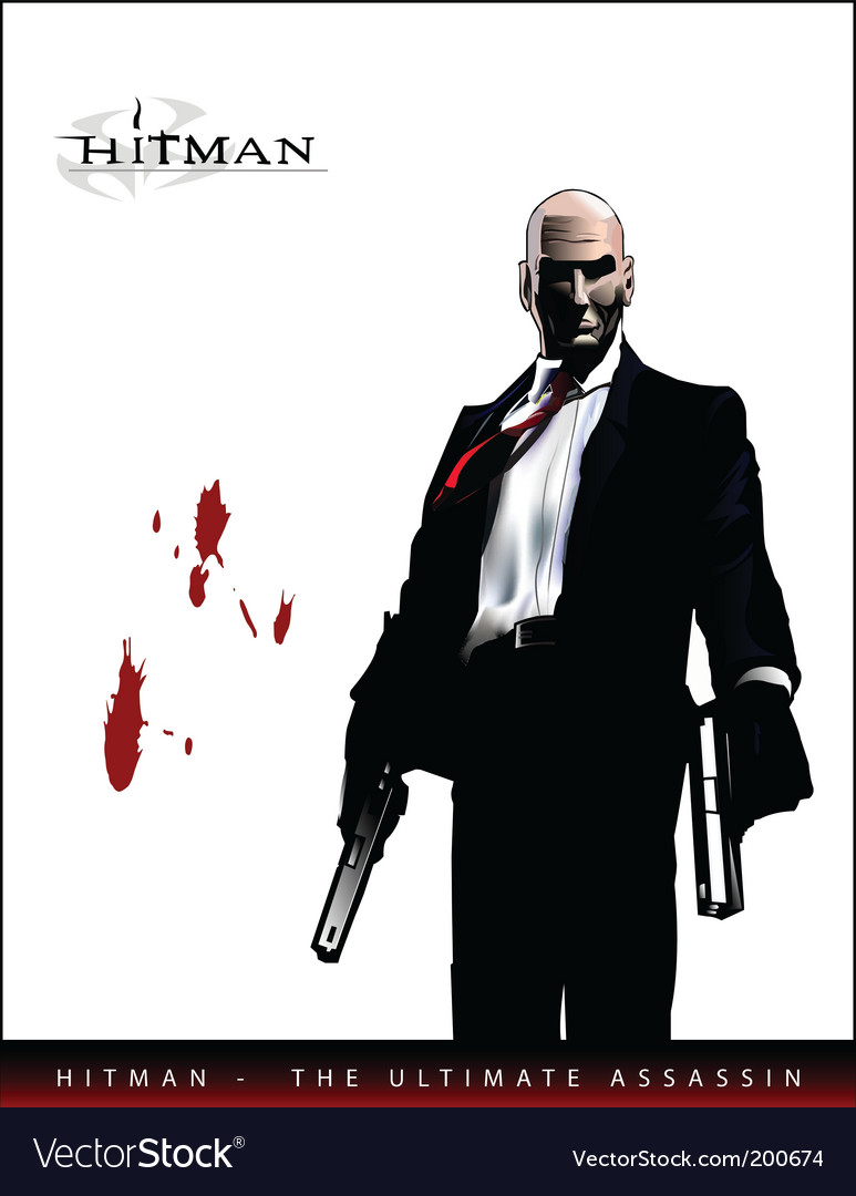 Hitman vector image
