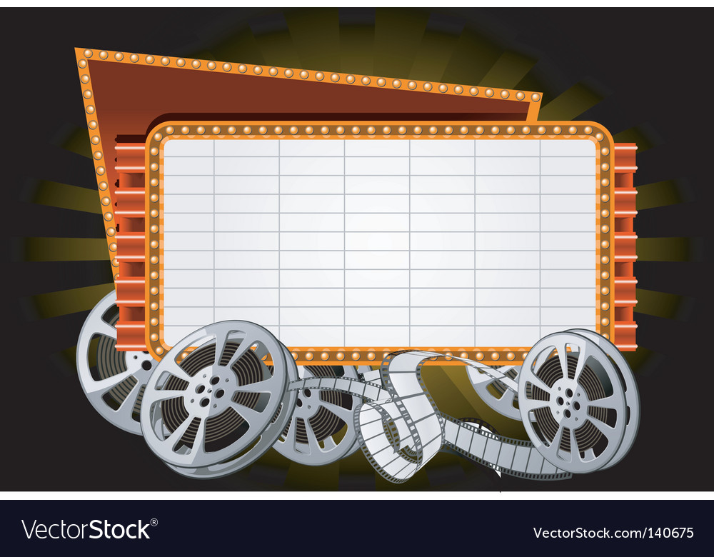 Movie marquee vector image