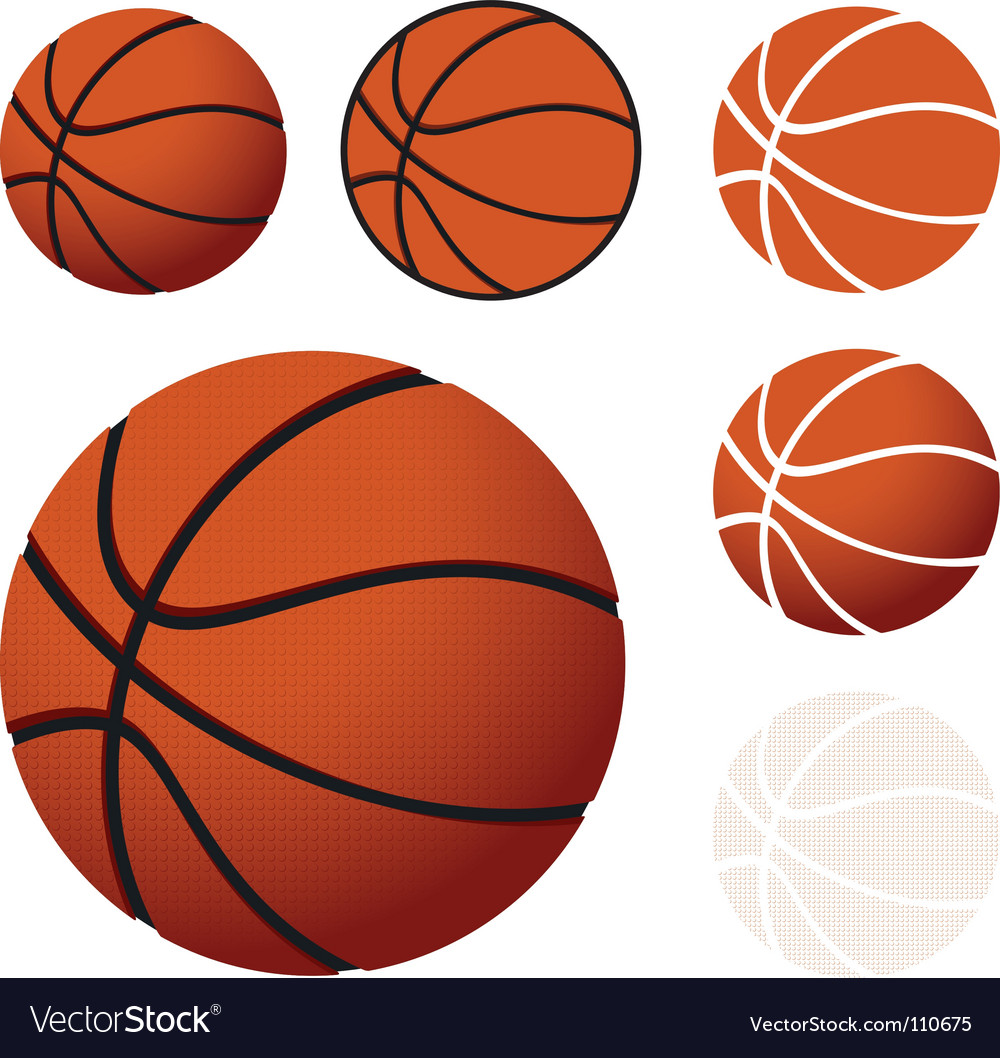 Basketballs vector image