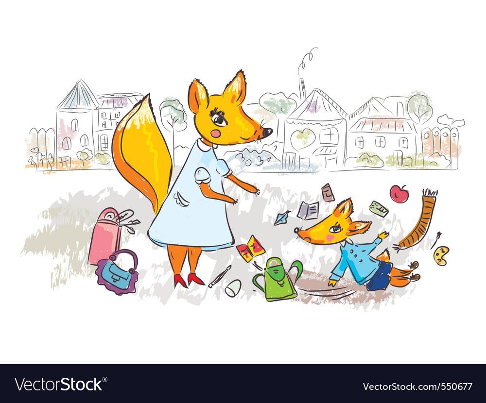 Family scene Vector Image