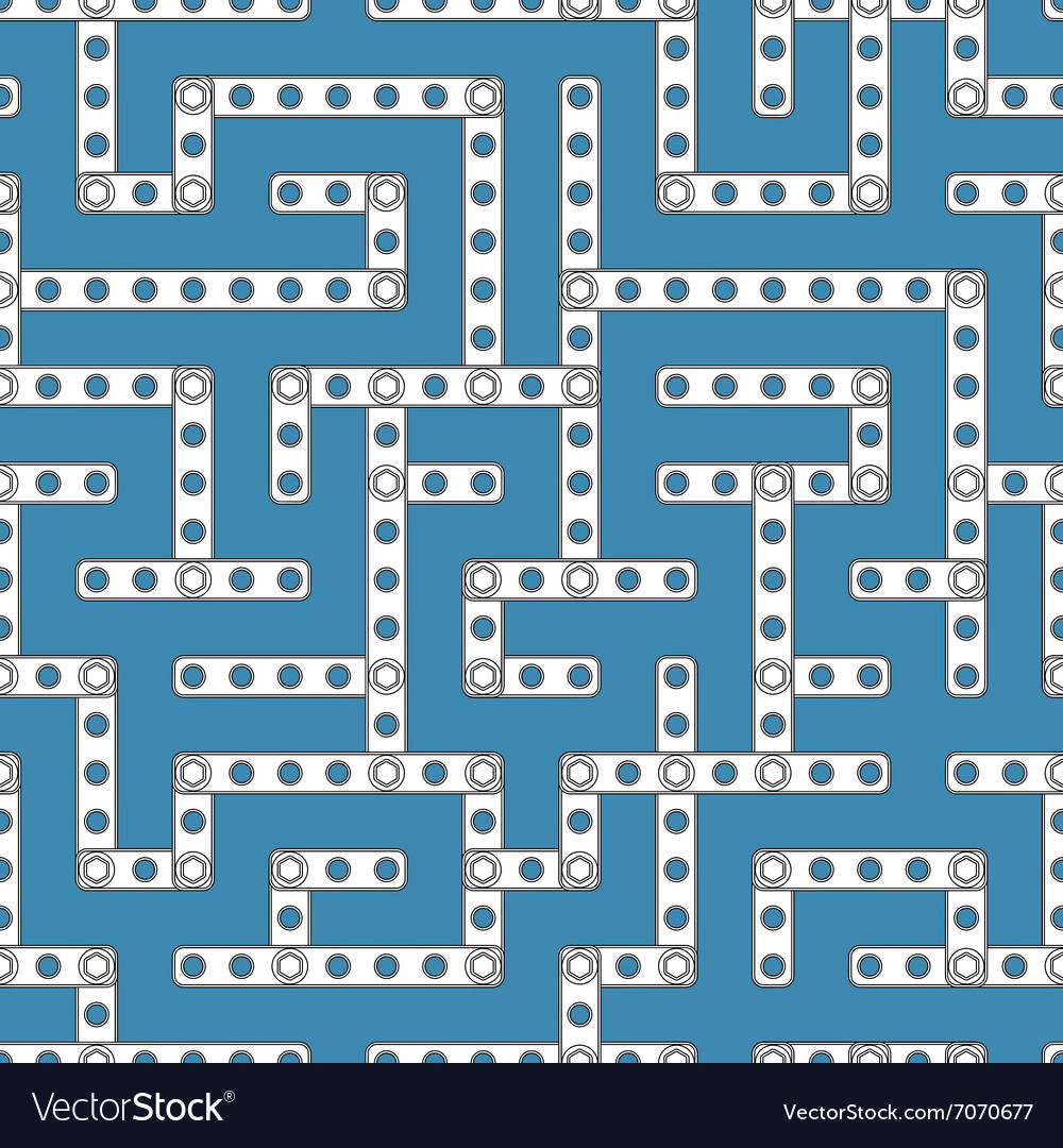 Constructor labyrinth 1s vector image