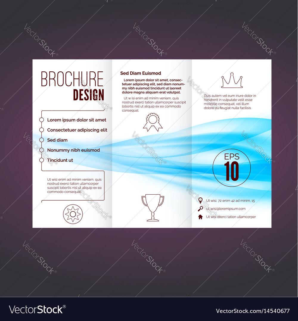 Refreshing speed blue swoosh wave brochure vector image