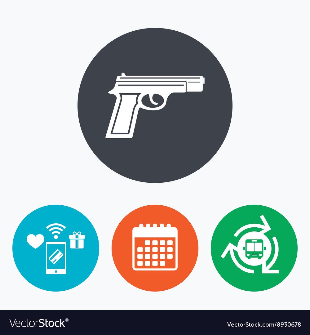 Gun sign icon firearms weapon symbol royalty free vector gun sign icon firearms weapon symbol vector image biocorpaavc