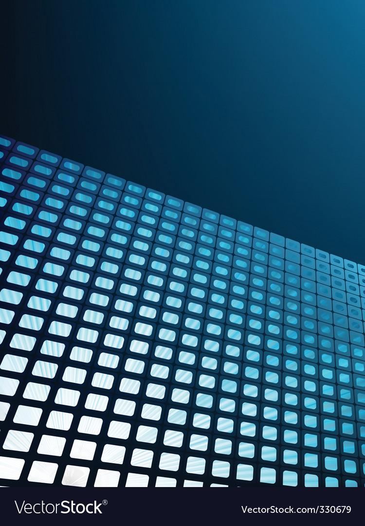 Blue waveform vector background vector image