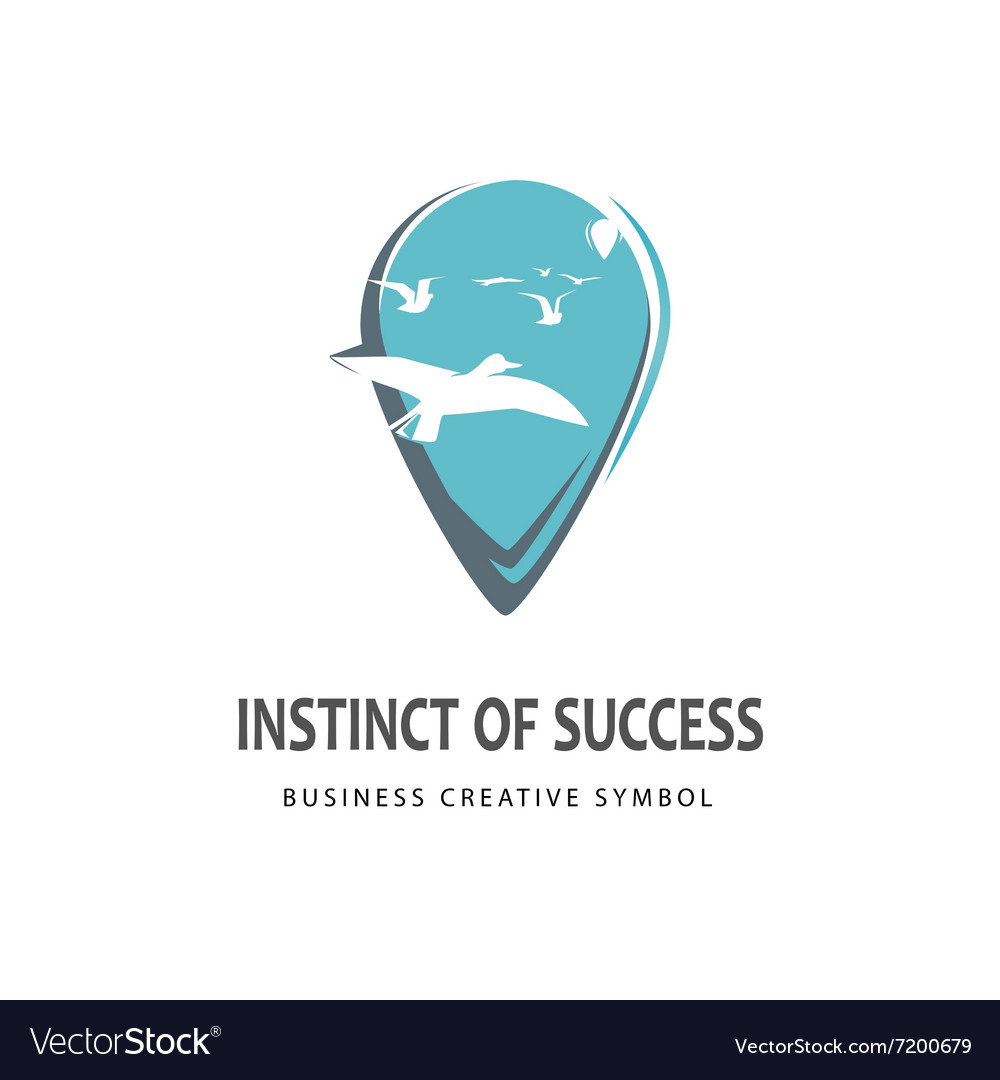 Business guide logo vector image