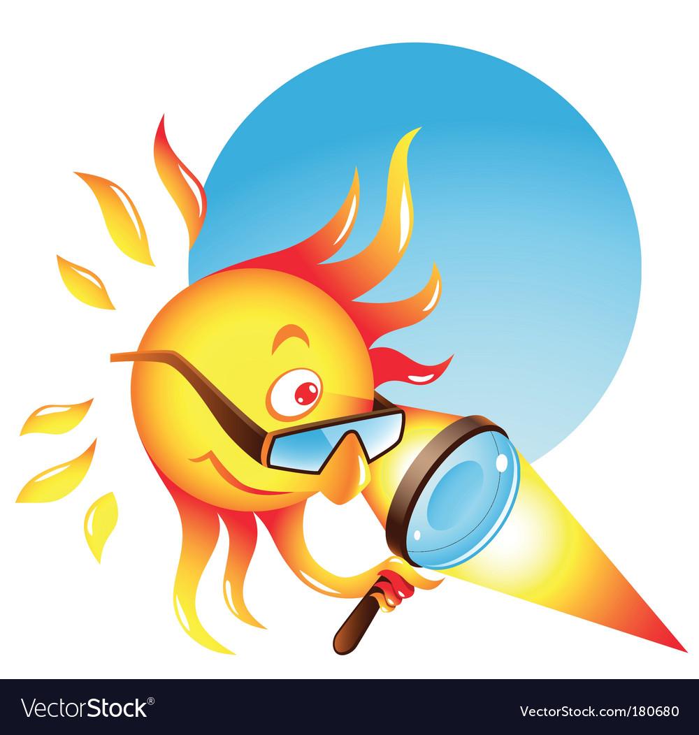 Burning sun vector image
