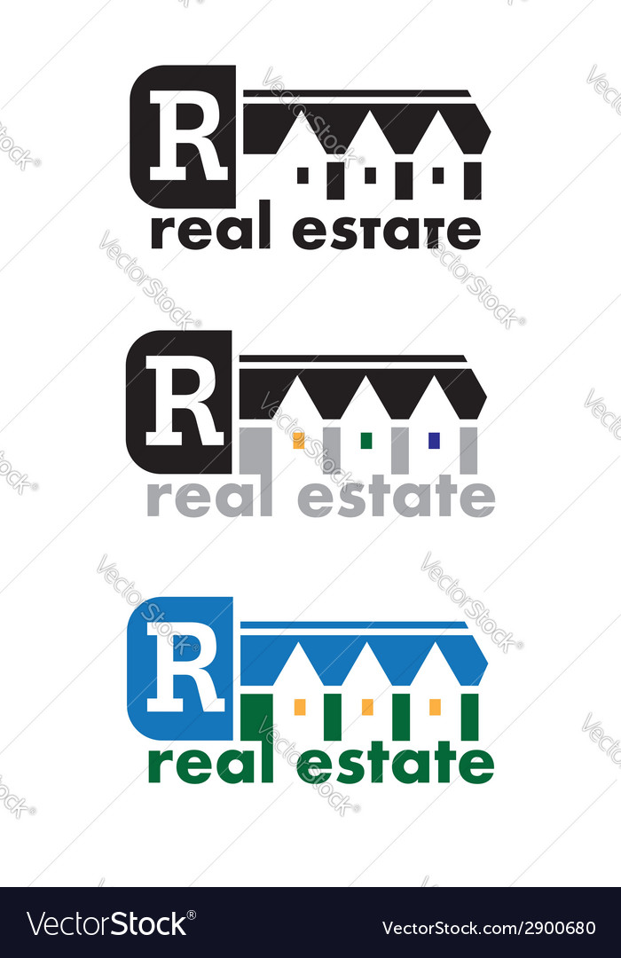 Real Estate Sign vector image