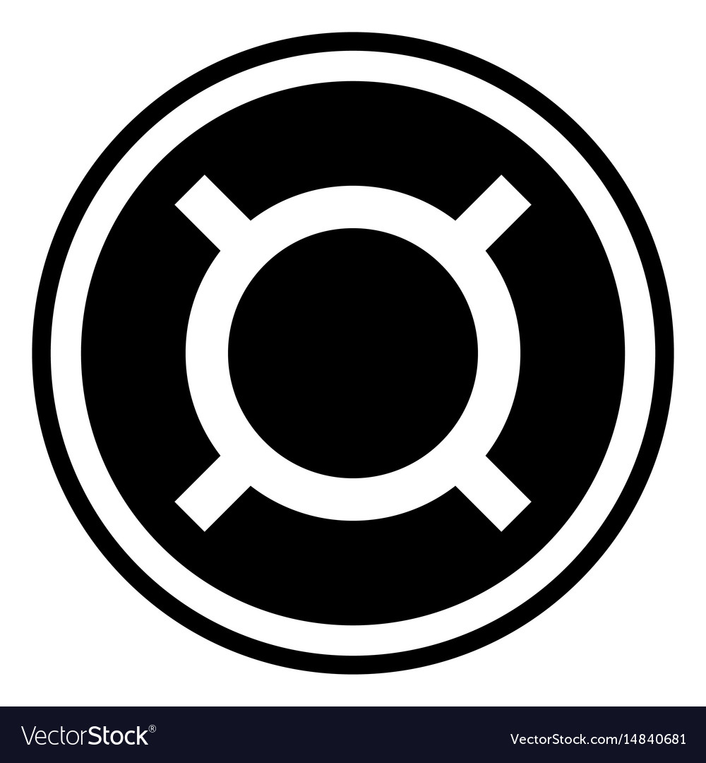 Generic currency symbol icon vector image
