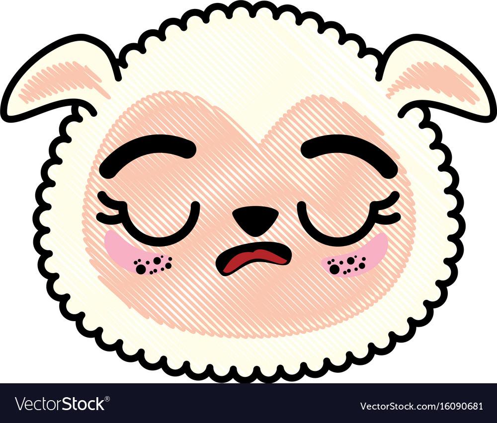 Sheep Face Vector - Clipart Library •