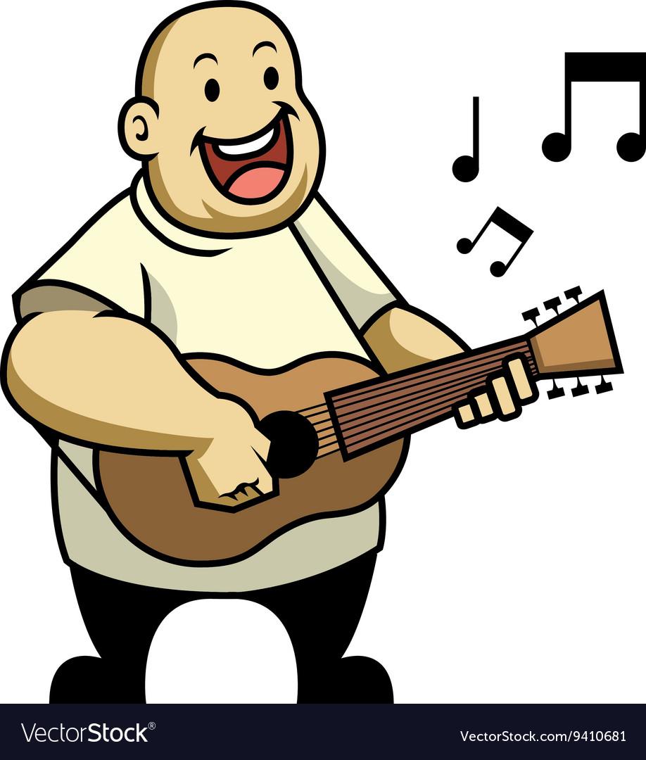 Singing Fat Kid vector image