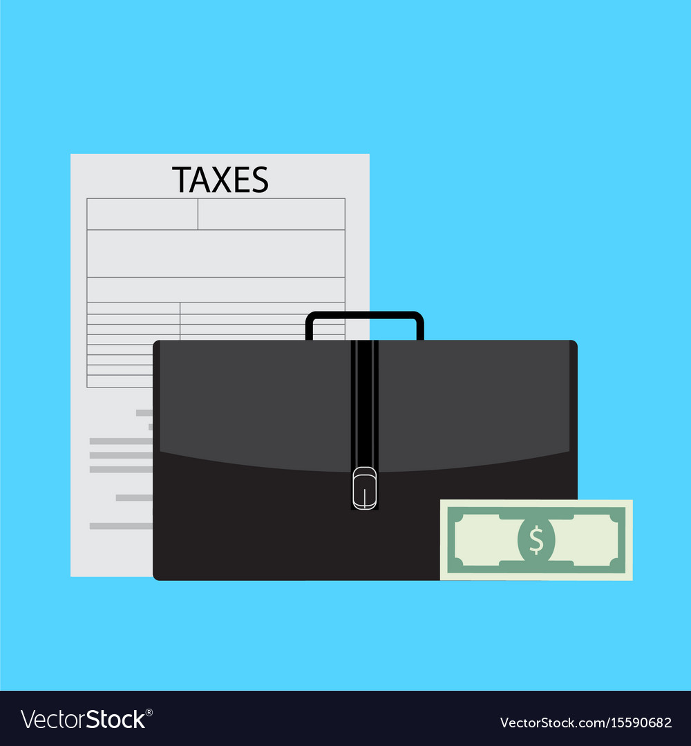 Business taxes vector image