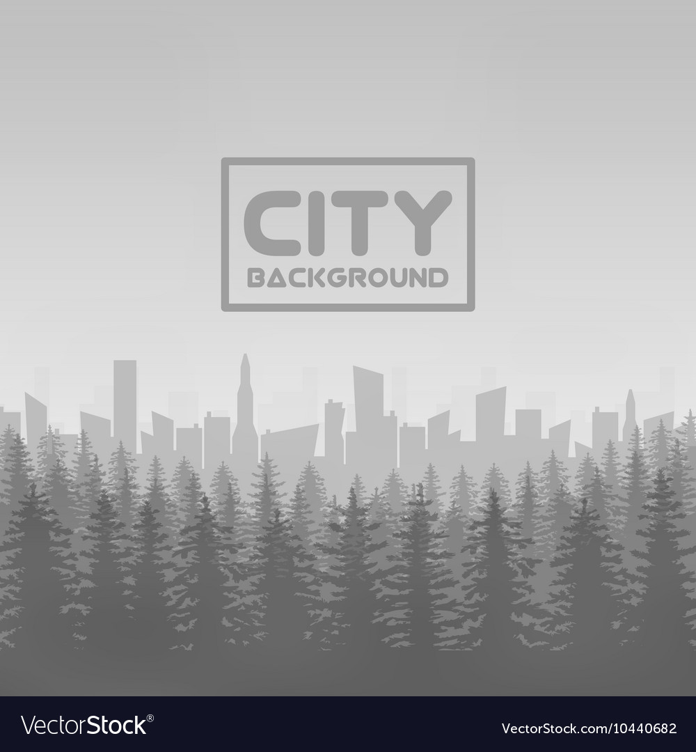 Panorama of city with forest vector image