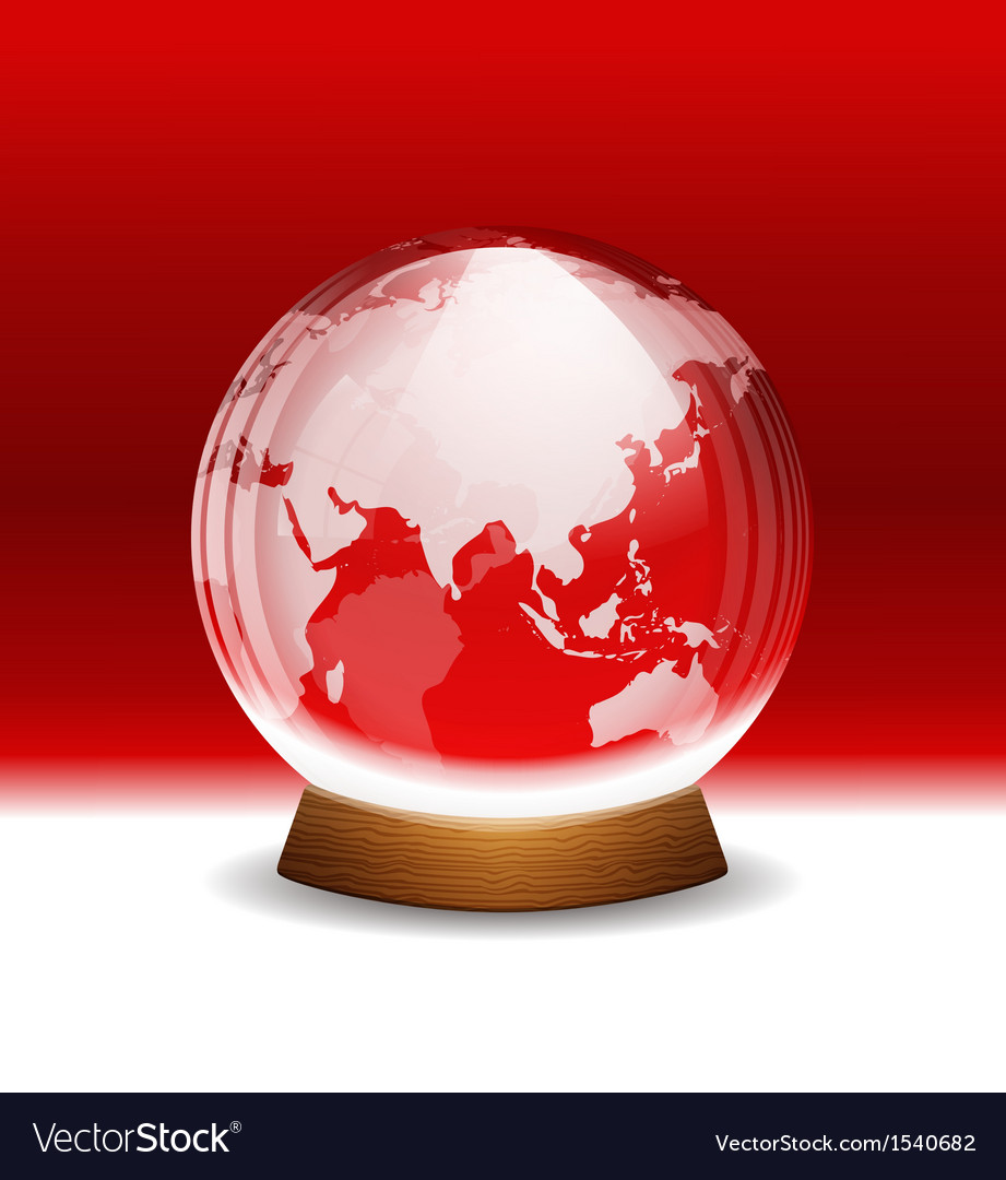 Transparent snow globe with map royalty free vector image transparent snow globe with map vector image gumiabroncs Images