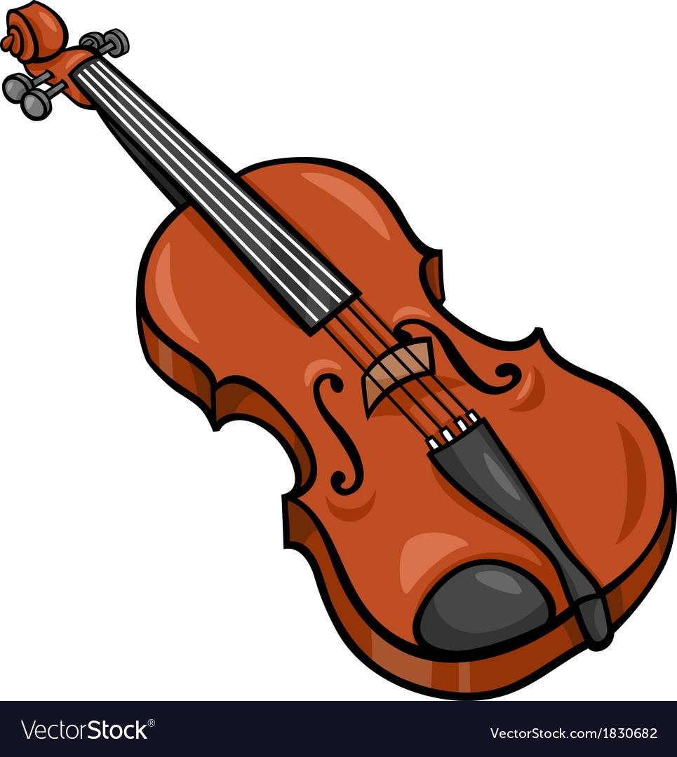 Violin cartoon clip art vector image