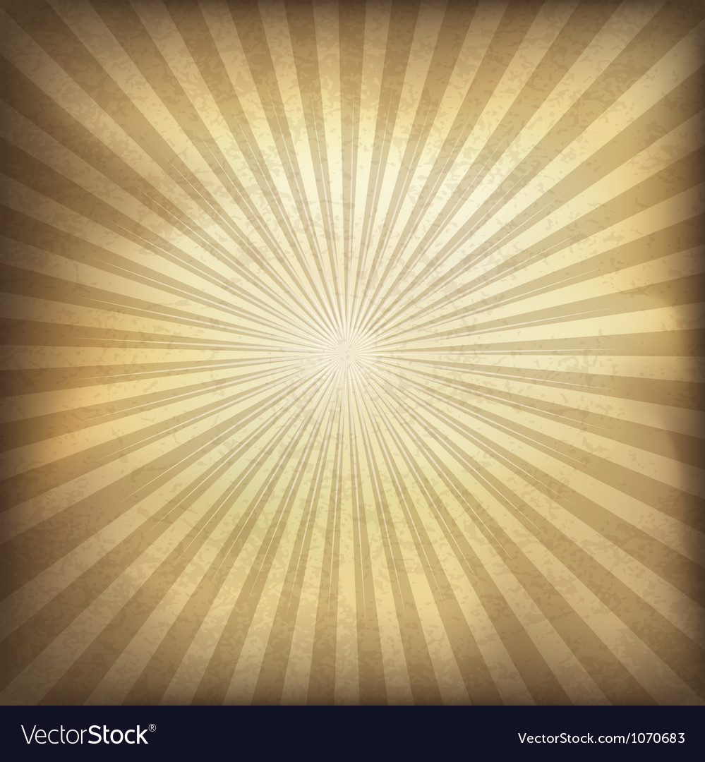 Vintage background with rays Vector Image