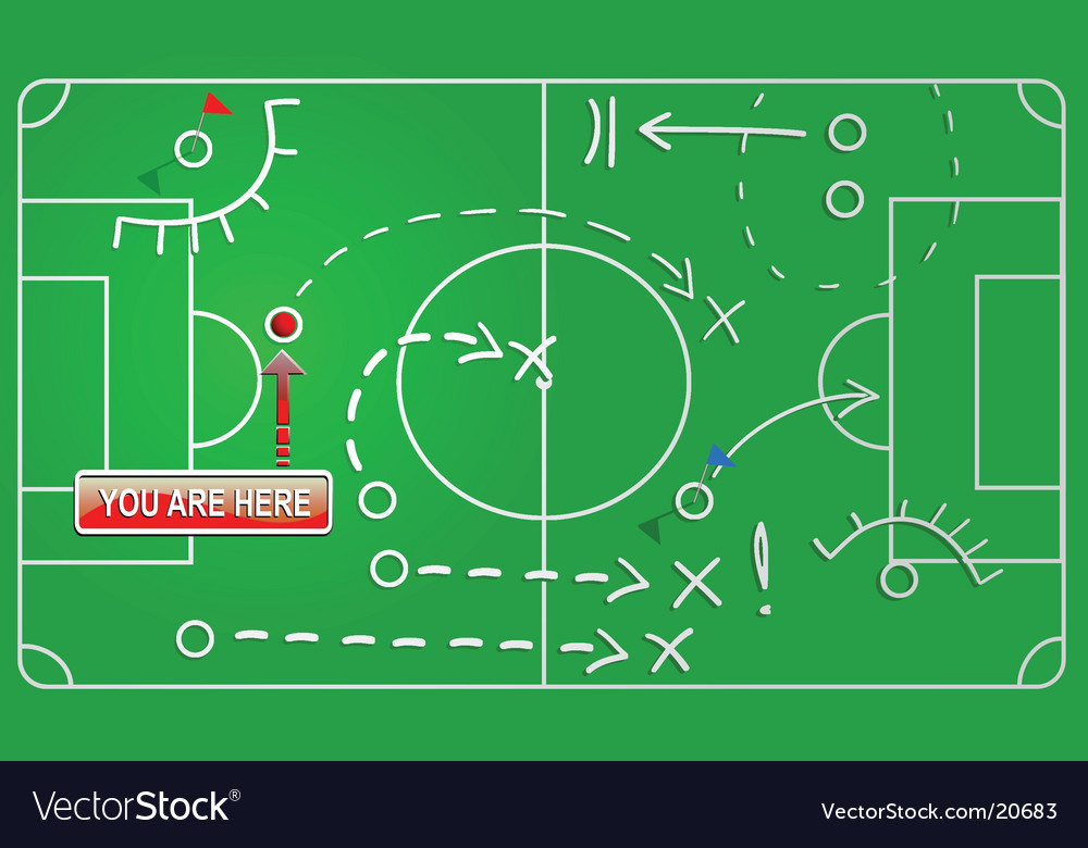 Filed game plan vector image