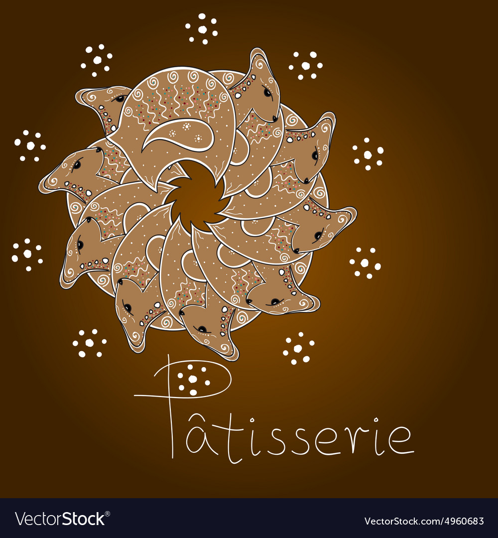 Gingerbread lambs vector image