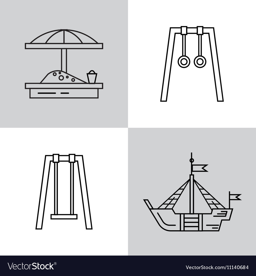 Swing for the Playground vector image