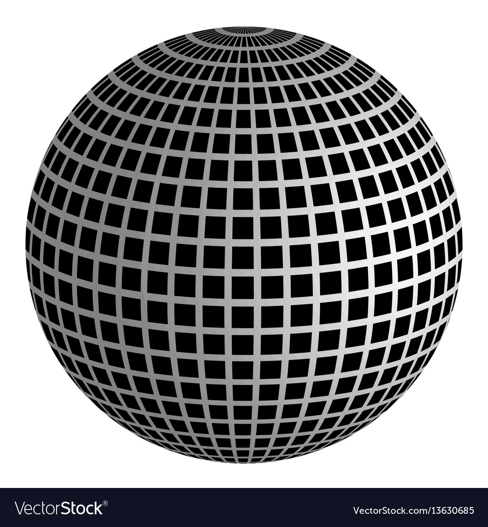 Disco ball 3d ball of mirrors vector image