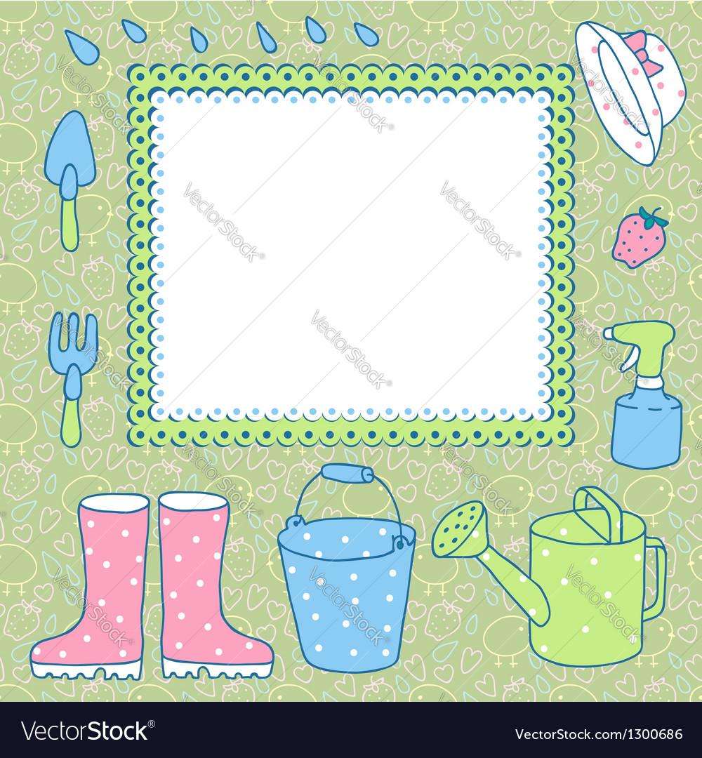 Garden vector image