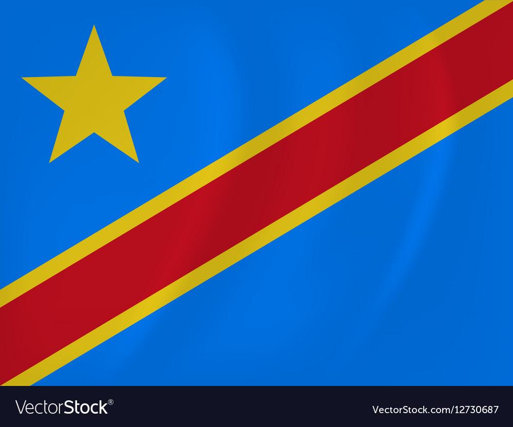 Democratic Republic of Congo waving flag vector image